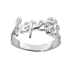Silver Plated 'Hope' Ring
