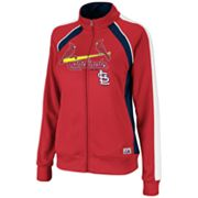 Majestic St. Louis Cardinals Great Play French Terry Track Jacket