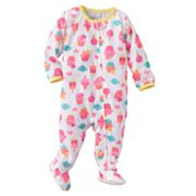 Jumping Beans Cupcake Footed Pajamas - Baby