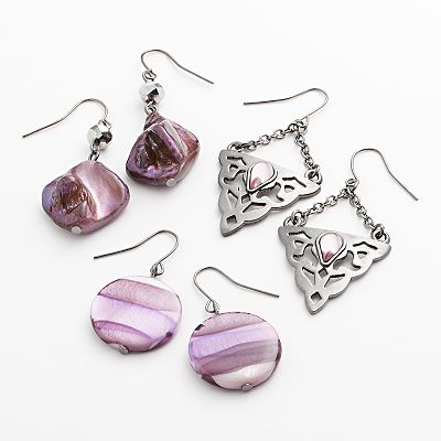 SONOMA life + style Jet Bead Drop Earring Set