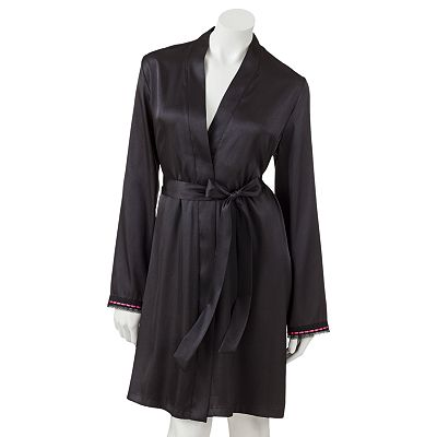 Apt. 9 Delilah Bouquet Satin Wrap Robe