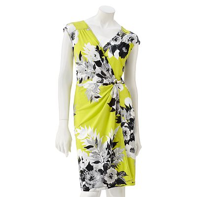 Apt. 9 Floral Faux-Wrap Dress - Petite