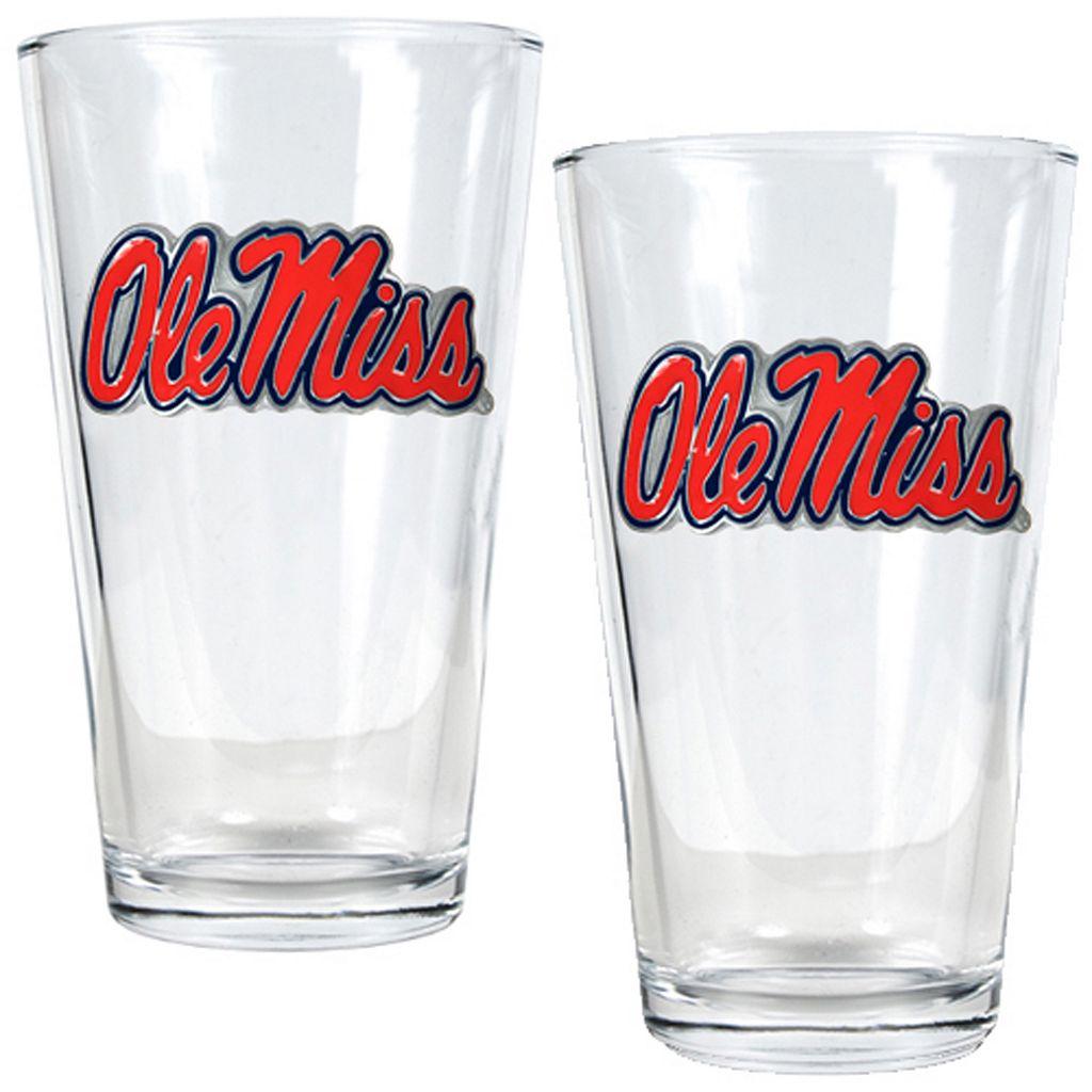 Ole Miss Rebels 2-pc. Pint Glass Set