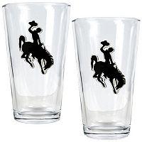 Wyoming Cowboys 2 pc Pint Glass Set