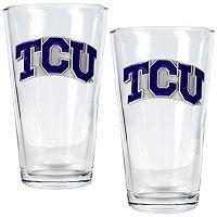 TCU Horned Frogs 2 pc Pint Glass Set