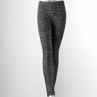 Simply Vera Vera Wang Leopard Chino Leggings
