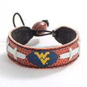 West Virginia Mountaineers Leather Bracelet