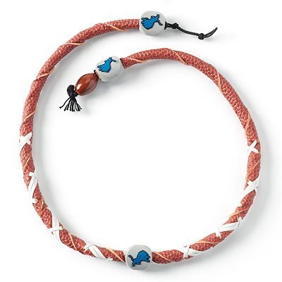 Detroit Lions Leather Necklace