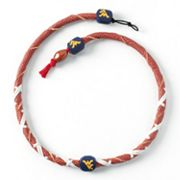 West Virginia Mountaineers Leather Necklace