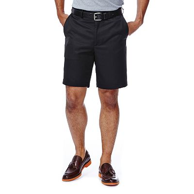 Haggar Cool 18 Plain Flat-Front Microfiber Shorts - Big and Tall