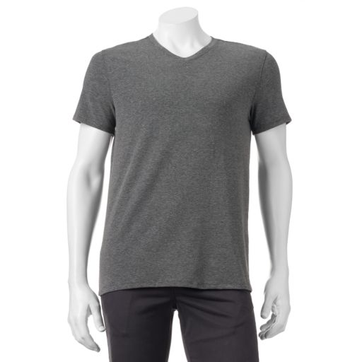 Men's Apt. 9® Premier Flex Slim-Fit Feeder-Striped Stretch V-Neck Lounge Tee