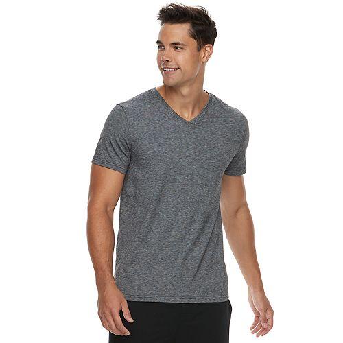 Men's Apt. 9® Premier Flex Slim-Fit Feeder-Striped Stretch V-Neck Sleep Tee