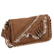 Nicole Lee Fabiola Faux-Fur Shoulder Bag