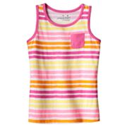 Jumping Beans Striped Tank - Girls 4-7