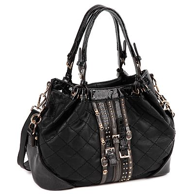 Nicole Lee Morgan Quilted Slouch Belted Convertible Shoulder Bag