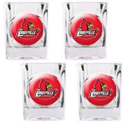 Louisville Cardinals 4 pc Shot Glass Set