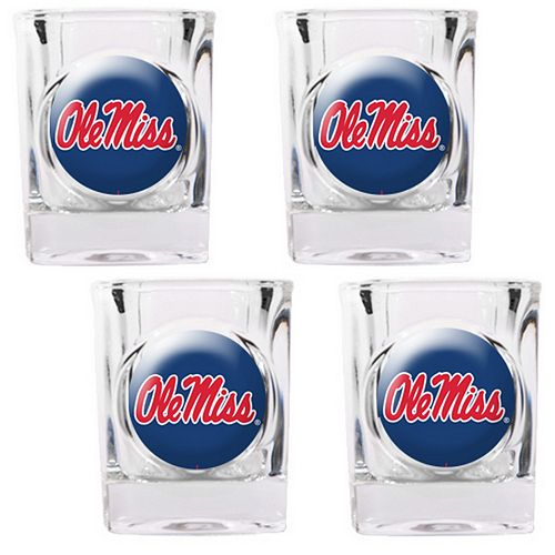 Ole Miss Rebels 4-pc. Shot Glass Set
