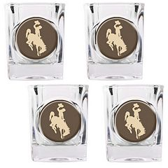 Wyoming Cowboys 4 pc Shot Glass Set