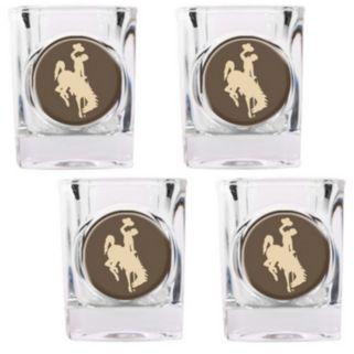 Wyoming Cowboys 4-pc. Shot Glass Set