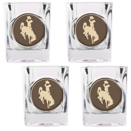 Wyoming Cowboys 4-pc. Shot Glass Set