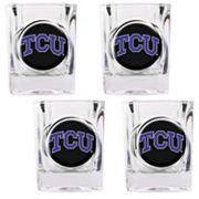 TCU Horned Frogs 4 pc Shot Glass Set