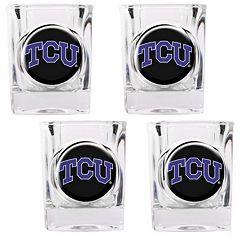 TCU Horned Frogs 4 pc Shot Glass Set