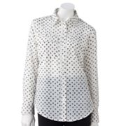 Apt. 9 Dot Crepe Blouse