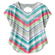 Mudd Striped Chevron Open-Back Top - Girls 7-16