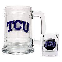 TCU Horned Frogs 2 pc Mug & Shot Glass Set