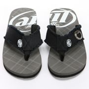 Miller Lite Plaid Bottle Opener Flip-Flops - Men