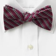 Croft and Barrow Houndstooth Pretied Bow Tie