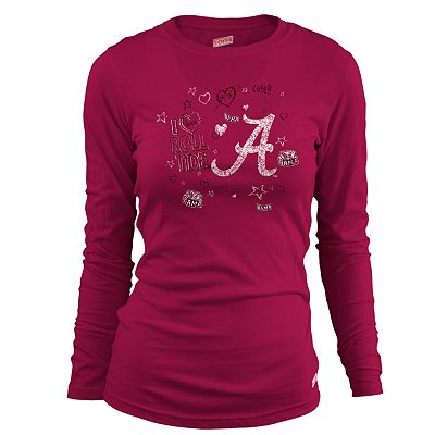 Soffe Alabama I Love Roll Tide Tee - Juniors'