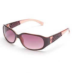 ELLE Cutout Rectangle Sunglasses
