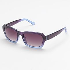 ELLE Ombre Rectangle Sunglasses