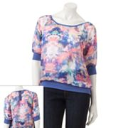 Eyelash Watercolor Chiffon Top - Juniors