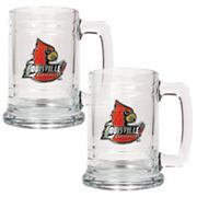 Louisville Cardinals 2-pc. Glass Tankard Set