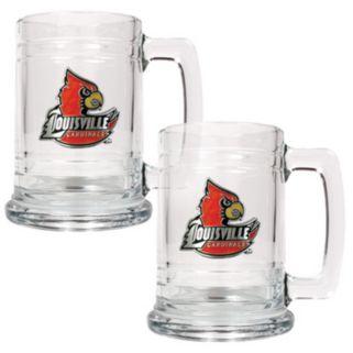 Louisville Cardinals 2-pc. Glass Tankard Set