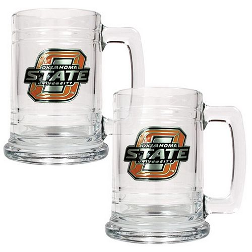 Oklahoma State Cowboys 2-pc. Glass Tankard Set