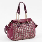 Nicole Lee Sheila Studded Scales Convertible Satchel