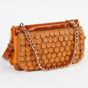 Nicole Lee Sheila Studded Scales Convertible Shoulder Bag