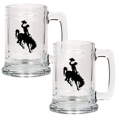 Wyoming Cowboys 2-pc. Glass Tankard Set