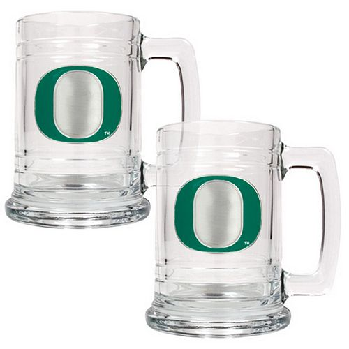 Oregon Ducks 2-pc. Glass Tankard Set