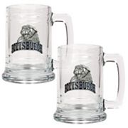 Pittsburgh Panthers 2-pc. Glass Tankard Set