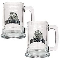 Pittsburgh Panthers 2 pc Glass Tankard Set