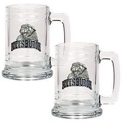 Pittsburgh Panthers 2-pc. Glass Tankard Set