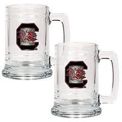 South Carolina Gamecocks 2-pc. Glass Tankard Set