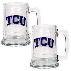 TCU Horned Frogs  2 pc Glass Tankard Set