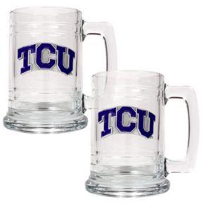 TCU Horned Frogs  2-pc. Glass Tankard Set