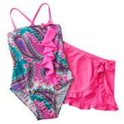Candie's Paisley 2-pc. Swimsuit Set - Girls 7-16