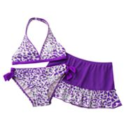 Candie's Cheetah Studded 3-pc. Bikini Swimsuit Set - Girls 7-16